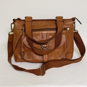 Fossil Leather  Satchel/Crossbody adjustable Strap
